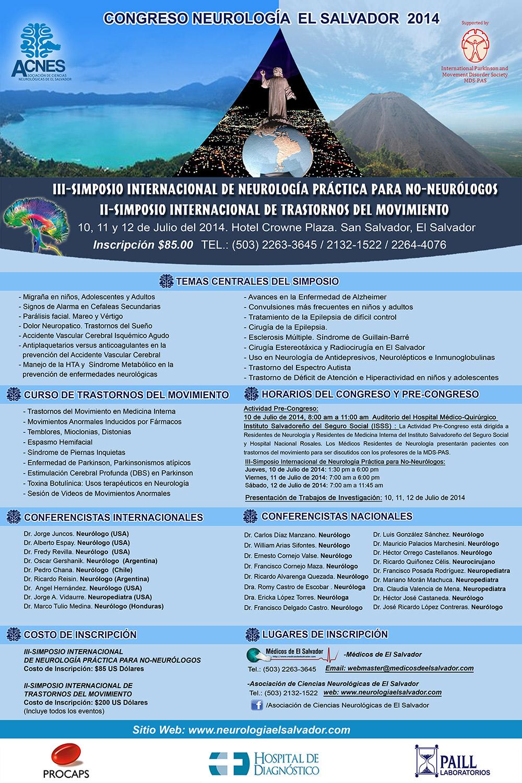 Afiche Congreso Neurología El Salvador 2014