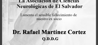 Esquela Dr. Rafael Martínez Cortez